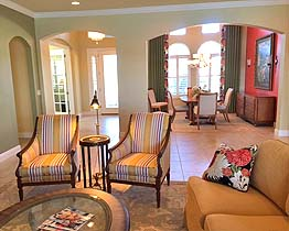 Venice, FL, The Venetian, Private Residence, Great Room (2nd view)