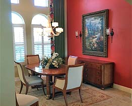 Venice, FL, The Venetian, Private Residence, Dining Room